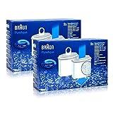2x Braun KWF2 Wasserfilter Aroma Selekt Pure AquaBRITA