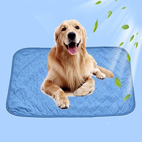 Haustier-kühle Matten-Auflage, Qualitäts-kaltes Gewebe   Einfach zu tragen   Intime Schutz Solide Farbe Kühlung Viskosefaser Hund & Katze Kühlermatten für den Sommer -