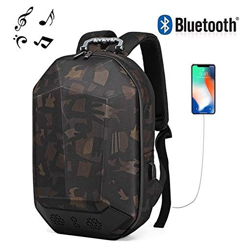 Bluetooth Reiserucksack, Outdoor Reitrucksack Kreative wasserdichte Schülertasche Smart USB Charging Travel Bluetooth Music Backpack - Sound Id Bluetooth
