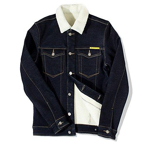 fjubjv Les Hommes de façon Occasionnelle d'hommes épaississement, Manteau, Veste de Vogue Hommes Manteau Chaud,Black,XL