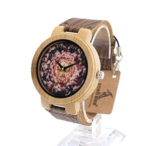 MSB Bamboo Watch / montre à quartz / galactique technologie de contrôle d'explosion / loisirs de la personnalité
