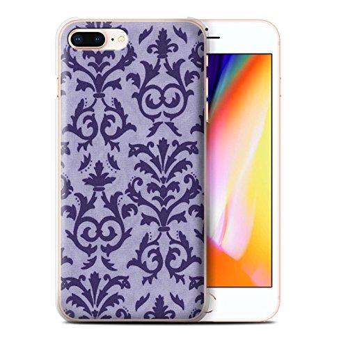 Stuff4 Hülle / Case für Apple iPhone 8 Plus / Rosa Muster / Blättern Sie Muster Kollektion Lila