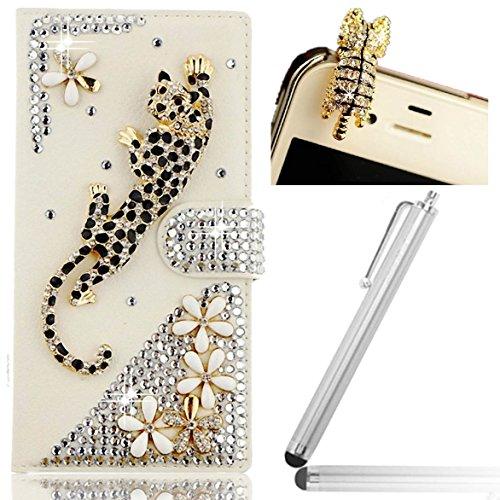 Vandot Leder Brieftasche Schutzhülle Case Flip Schutzhülle Shell Cover Schutzhülle für Sony Xperia X Magnetischer Verschluss Flip Schutzhülle Hull --/Kappe anti-staub Kap -- Universal Eingabestifte/Stylus–Leopard