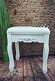 Hocker Sitzhocker Holzhocker Holz Schemel antik weiß Landhaus Shabby Chic SP80