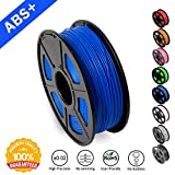 SUNLU ABS Filaments for 3D Printer-Blue ABS Filament 1.75 mm,Low Odor Dimensional Accuracy +/- 0.02 mm 3D Printing Filament,2.2 LBS (1KG) Spool 3D Printer Filament for 3D Printers & 3D Pens,Blue