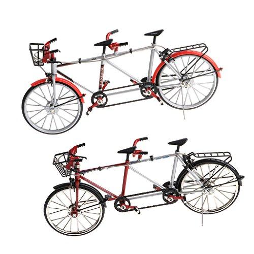 MagiDeal 2pcs Deko Fahrrad Geldgeschenk Tandem Rennrad Modell Dekoration Geschenk