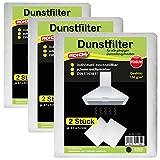 Dunstfilter im 6er Pack Dunstabzugshaubenfilter Fettfilter Filter Basic Qualität 100 g/m² oder Premium Qualität 150 g/m² ( Premium Qualität 150 g/m² )