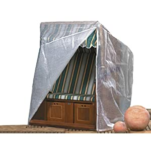 "Brema Schutzhülle Strandkorb ""Standart"", Transparent, 128 x 105 x 140/165 cm"