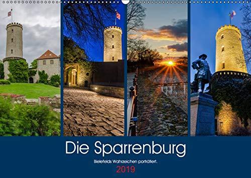Die Sparrenburg. Bielefelds Wahrzeichen porträtiert. (Wandkalender 2019 DIN A2 quer): Die Sparrenburg im Jahresverlauf. (Monatskalender, 14 Seiten ) (CALVENDO Orte)
