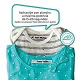 100 Etiquetas de tela para marcar la ropa (planchar)