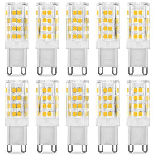 Pursnic G9 lampadina LED - 5W / 400LM, equivalente di lampadine alogene da 40W, Bianco Caldo 3000K, 360° Angolo a fascio, 10-Pack