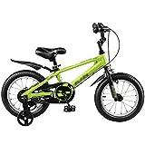 Feifei Kinder Fahrrad Kinderwagen 12/14/16/18 Zoll Mountainbike Blau Silber Grün Umweltschutz Materialien Mode Sicherheit (Farbe : Grün, Größe : 18 inch)