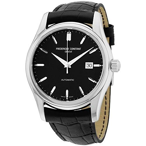 Frederique Constant Men's Carre 43mm Leather Band Automatic Watch FC-303B6B6