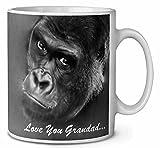 Gorilla 'Love You Grandad' Sentiment Kaffeetasse Geburtstag / Weihnachtsgeschenk