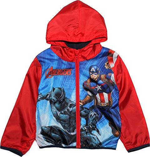 Marvel Avengers Boys Captain America and Black Pantha Zip Hoodie Rain Jacket Coat
