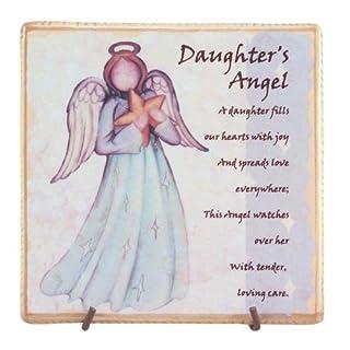 About Face Designs Daughter's Angel Decorative Ceramic Tile