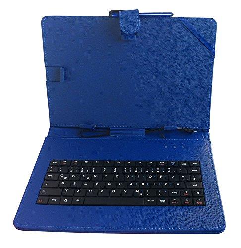 DURAGADGET Tastatur-Hülle mit DEUTSCHER QWERTZ-Belegung, kompatibel mit ODYS Tablet PCs (siehe Produktbeschreibung) (10 Zoll - Blau)