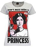Star Wars - Maglietta a maniche corta da donna - Principessa Leia - X-Large