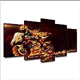 xzfddn Quadro Dipinto su Tela per Soggiorno Poster Quadro Dipinto su Tela di Valentino Rossi Poster HD