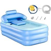 Tech-l Baignoire Gonflable en Plastique Portable Baignoire Pliable Tremper Baignoire Home Spa Baignoire avec Pédale…