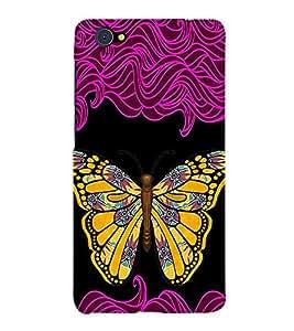 99sublimation Butterfly in Gold Designer Back Case Cover for Vivo V5