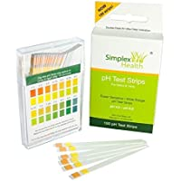 Simplex Health pH Teststreifen (100 Stück) Urin & Speichel