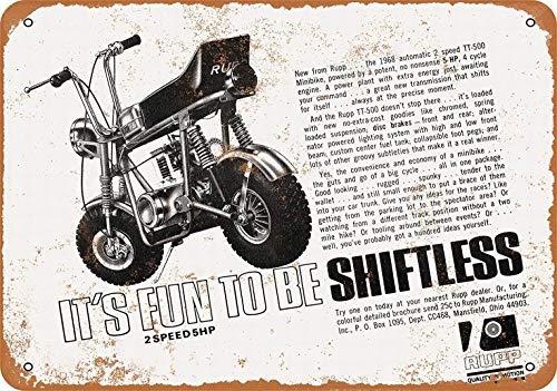 mefoll 1968 Rupp Minibikes Tin Sign 12x16 Metal Wall Decor by