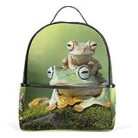 MyDaily Funny Tree Frog Backpack for Boys Girls School Bookbag
