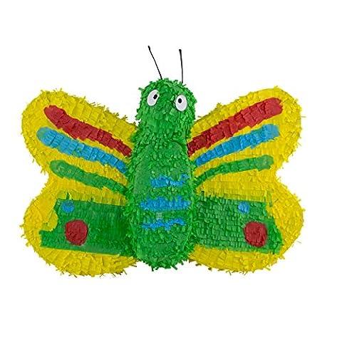 Schmetterling Pinata von Trendario - 57x37cm groß - ungefüllt - Ideal zum Befüllen mit Süßigkeiten und Geschenken - Bunte Piñata für Kindergeburtstag Spiel, Geschenkidee, Party, Hochzeit