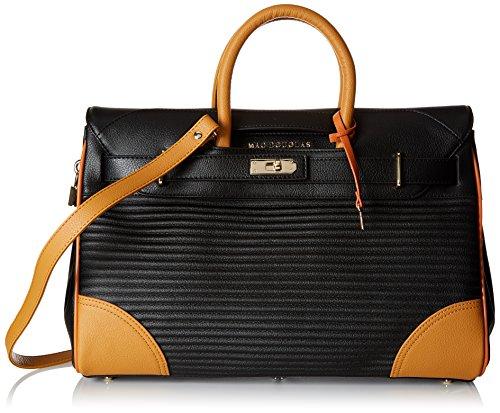 Mac Douglas Damen Pyla Rymel S Shopper, 17,50x26x40,50 Centimetri Schwarz (noire / Ocre)