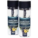 Garcinia Cambogia, 100% reine & natürliche Pulverkapseln aus ganzen Früchten , 140 vegetarische und vegane, hochwirksame, Appetit zügelnde, Fett verbrennende Diätpillen, entwickelt für gesunde Gewichtsabnahme, frei von Gluten, Milch, Weizen und Koffein plus zusätzlichem Kalium, Kalzium und Chrom für die besten Ergebnisse, sicher in Großbritannien hergestellt nach den höchsten GMP-Standards von Exzo. Bild 1