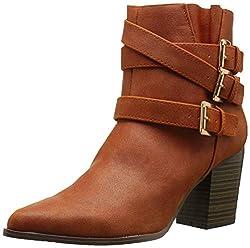 Qupid Womens Tilt-02 Boot, Camel, 8 M US