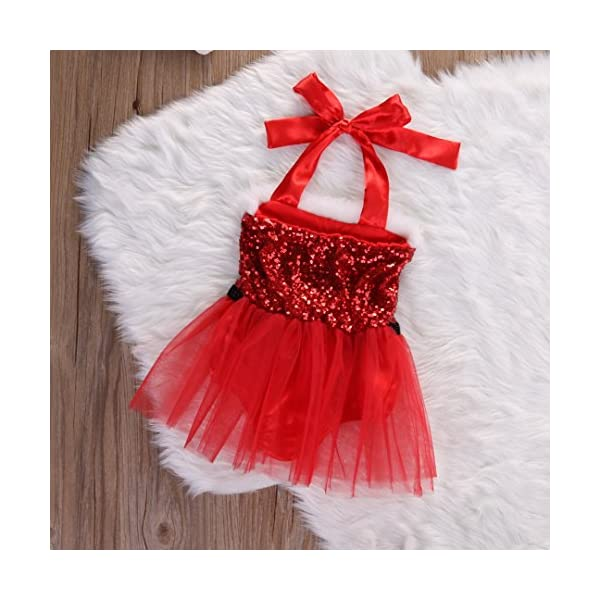 98b70d4ae9 London Royal Red Newborn Baby Girl Clothes New Santa Romper Party Tutu  Dress Christmas Halter Mini