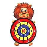 fervortop Dartpfeile aus sicherheitsdichtem Stoff für Kinder zum Aufhängen mit 3 Bällen von Target Sport Indoor Spiel Outdoor für Kinder Leone