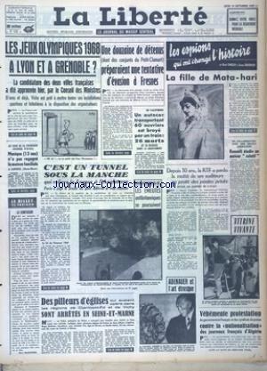 LIBERTE (LA) [No 6089] du 19/09/1963