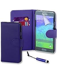 Connect Zone Samsung S5 Mini (SM-G800F) haute qualité PU étui rabat portefeuille cuir Pochette + Protège Écran Avec Chiffon De Polissage Et Mini Stylet - Bleu Livre Clapet