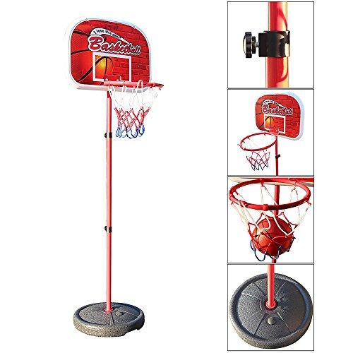 Melko® Basketballkorb Basketballboard Backboard Ständer Basketball für Kinder, Rot/Weiß/Schwarz, 80-158 cm