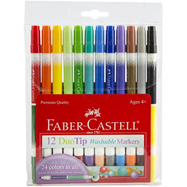 Faber Castell Duotip Duotip Duotip Washable Markers Pk/12 10f87d