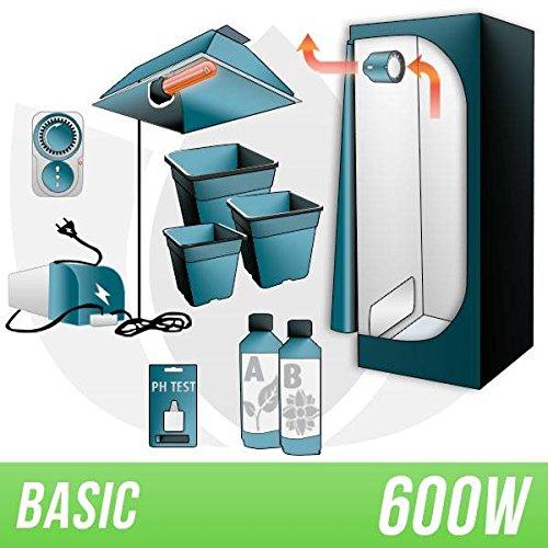 Galleria fotografica Kit Indoor Terra 600w + Grow Box - BASIC