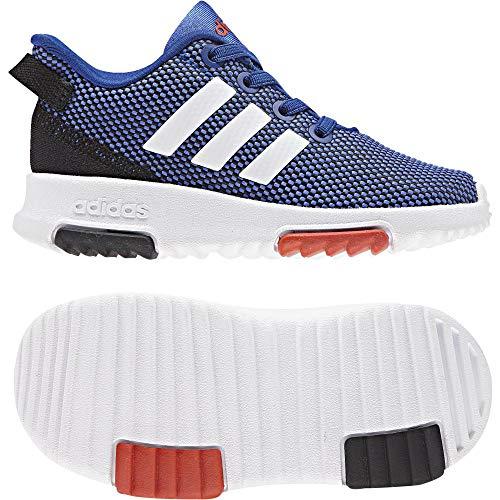 Adidas racer tr, scarpe da ginnastica basse unisex-bimbi, blu (hirblu/ftwwht/hirere 000), 20 eu