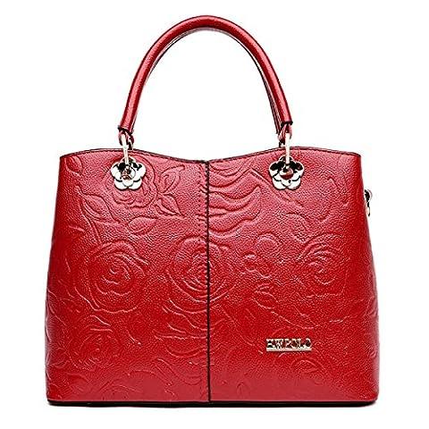 Dame Fashion Trendy Geprägte Mutter Pack Wild Tragbare Diagonale Schultertasche Bestes Geschenk,C-32*13*24cm