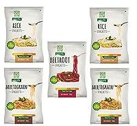 NutraHi Gluten Free Spaghetti Combo - 2 x Rice, 2 x Multigrain and 1 x Beetroot - 84gm Each