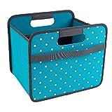 Meori Kofferraumtasche Faltbox 15L, Azur Blau / mit verschiedenen Mustern reisenthel, klappbox, faltkorb, faltbox Punkte