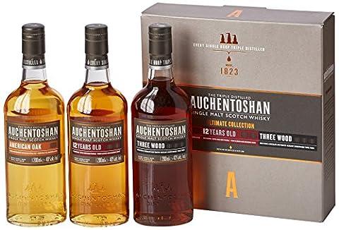 Auchentoshan Ultimate Collection Single Malt Scotch Whisky Gift Set 3