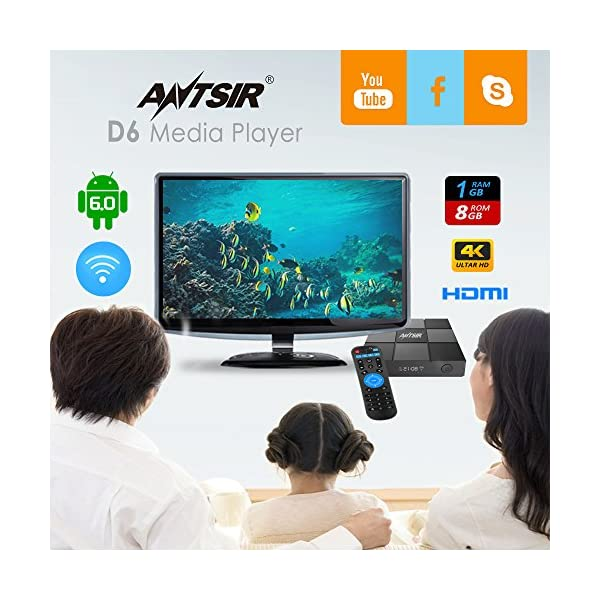 ANTSIR--D6-Android-Tv-Box-Amlogic-S905X-Quad-Core-A53-GPU-24Ghz-WiFi-1G8G-4KHDR-Smart-Android-60-Media-Player-2017-Latest