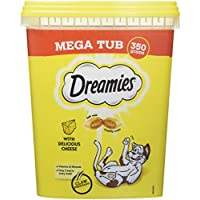 Dreamies -Golosinas para gatos, sabor: Queso MegaTub, 350g (Pack de 2)