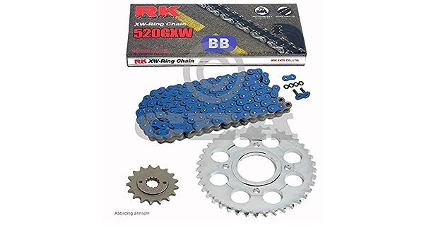 Kettensatz Geeignet Für Yamaha Yfm 700 R Raptor 06 19 Kette Rk Bb 520 Gxw 98 Blau Offen 14 38 Auto