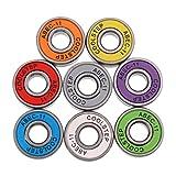 Sharplace Lot de 8pcs ABEC 11 Roulement à Bille 22mm Roulements pour Roues de Skateboard Scooter Longboard Speed Bearings