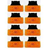 8 luces de gálibo naranja ámbar 24 V marcador lateral 4 luces LED con soportes para volquete, remolque, chasis, camión, carav