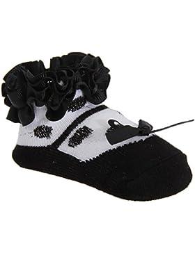 Baby Mädchen Rüschen Socken Ballerina Style mit Masche (1 Paar)